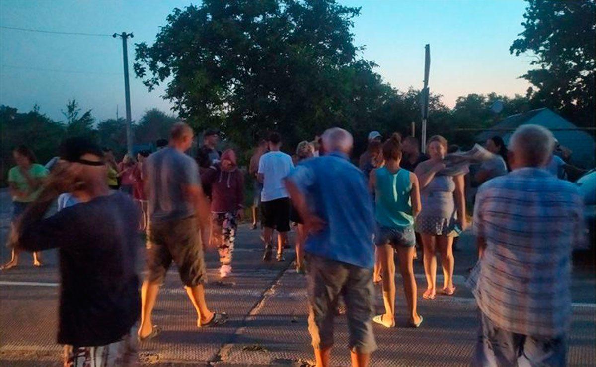 Геническ, протест, Яновский