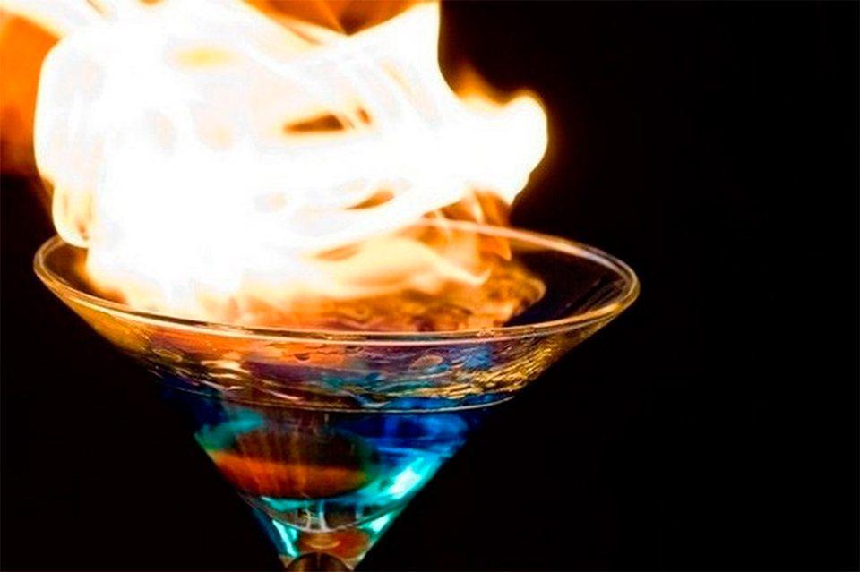 коктейль, Молотов, бармен, ожог