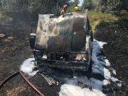 """В Херсонской области на трассе сгорела """"Лада""""-семерка"""