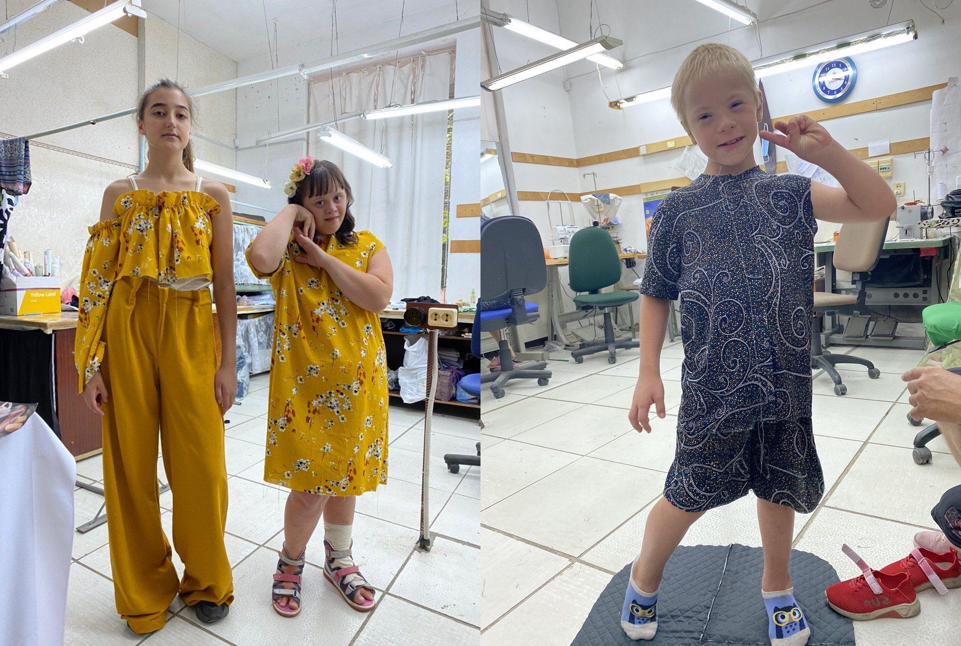 В Херсоні дизайнери розробляють одяг для дітей з синдромом Дауна