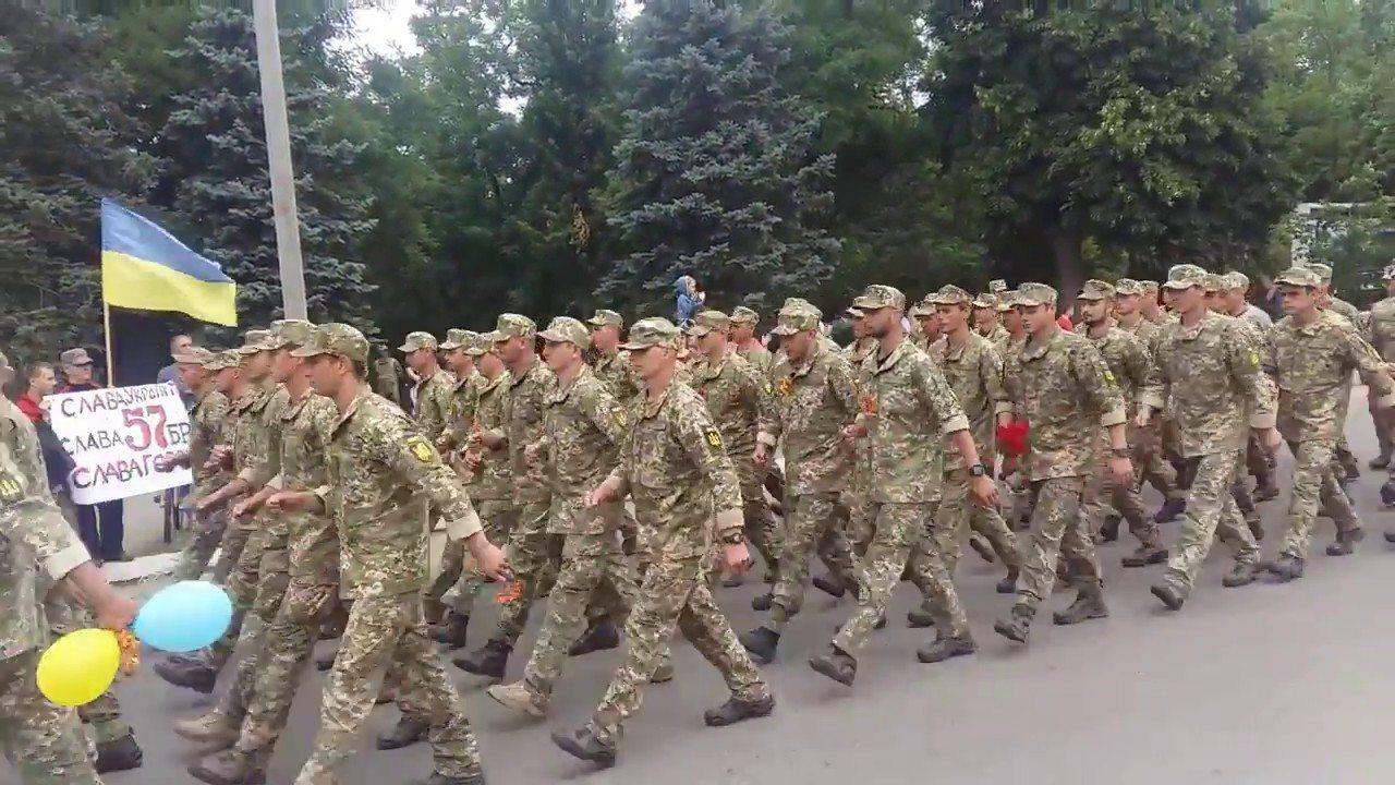 Боевая часть возвращается с фронта на Херсонщину