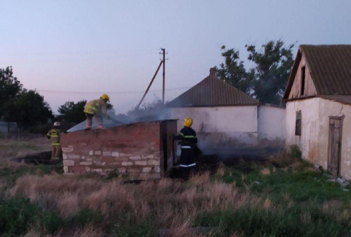 В Херсонской области в заброшенном сарае сгорел неизвестный