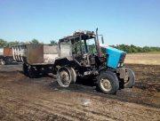 В Херсонской области сгорел трактор