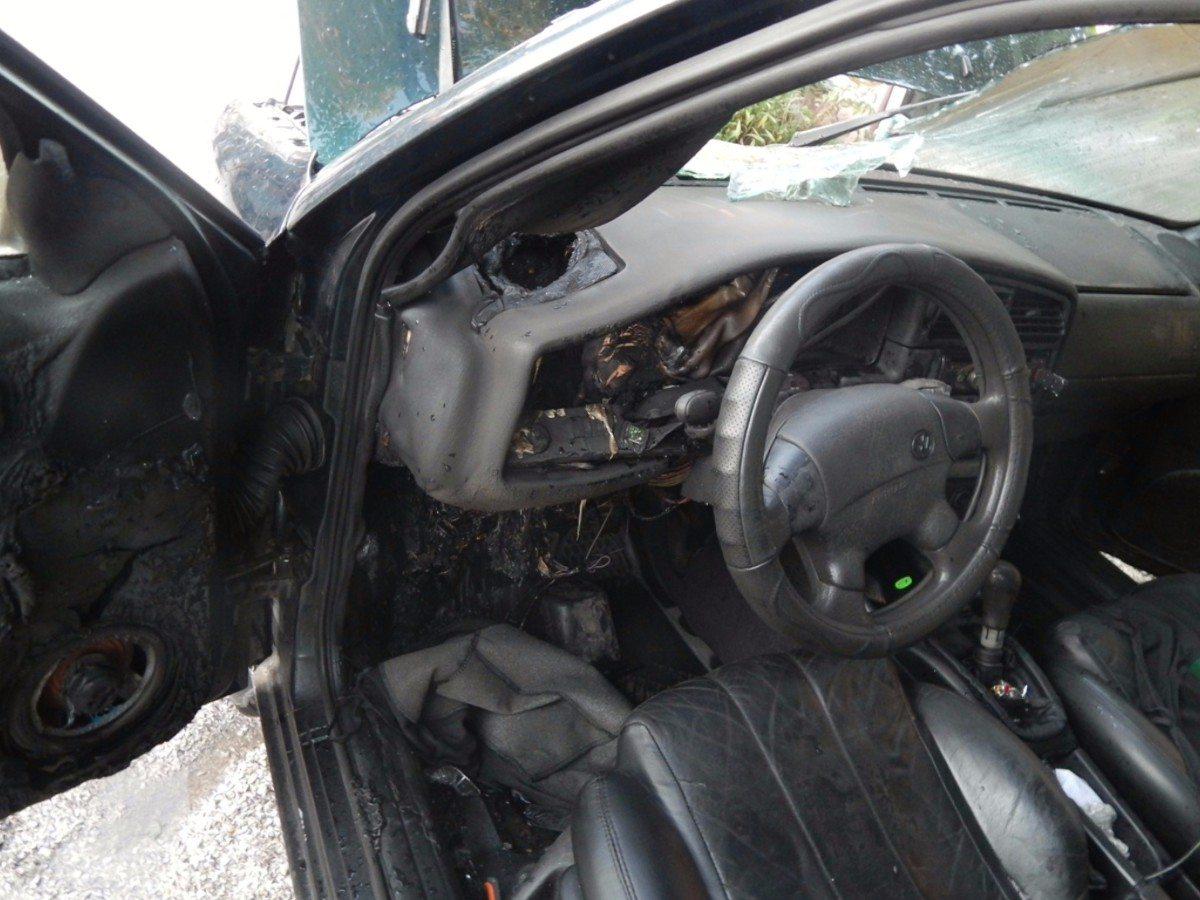 Скадовский район,пожар автомобиля,Лазурное
