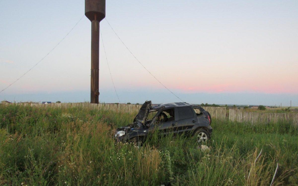 Под Херсоном автомобиль упал в кювет, сбив столб линии электропередач (видео)