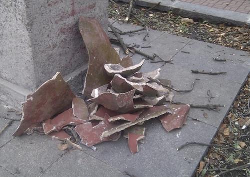 Памятник Кобзарю под Херсоном разбили вандалы
