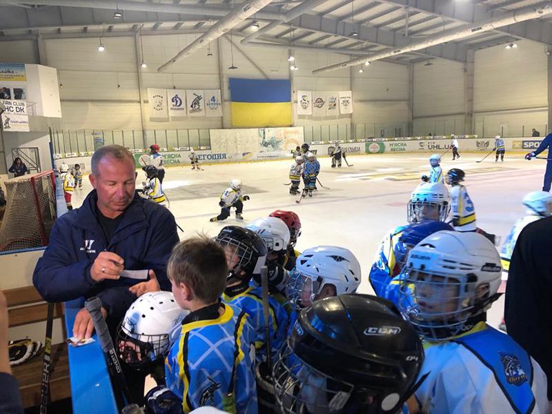 Вихованці херсонської Школи хокею зустрілися з світовими хокейними легендами