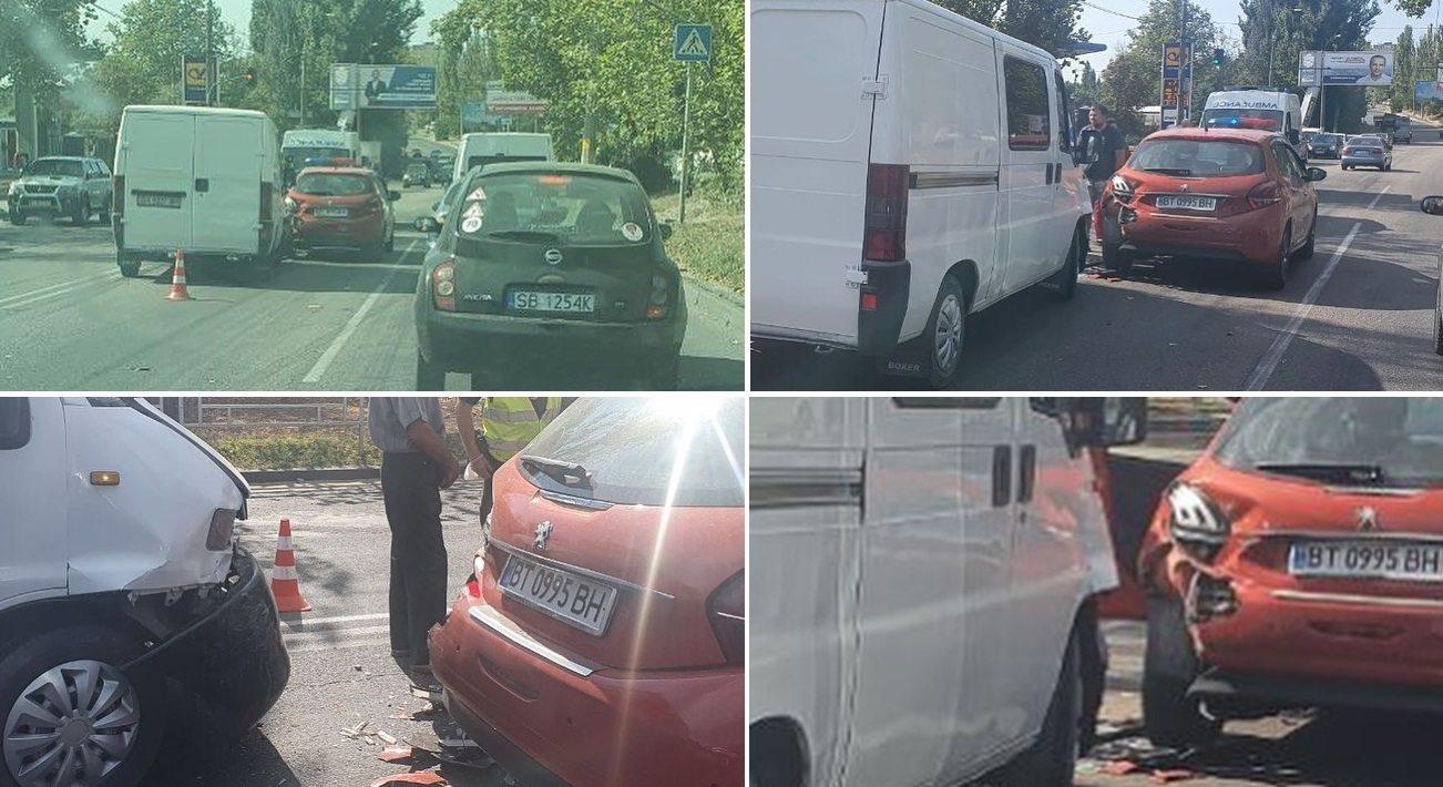 В Херсоне авария спровоцировала автопробку на шоссе Вячеслава Черновола