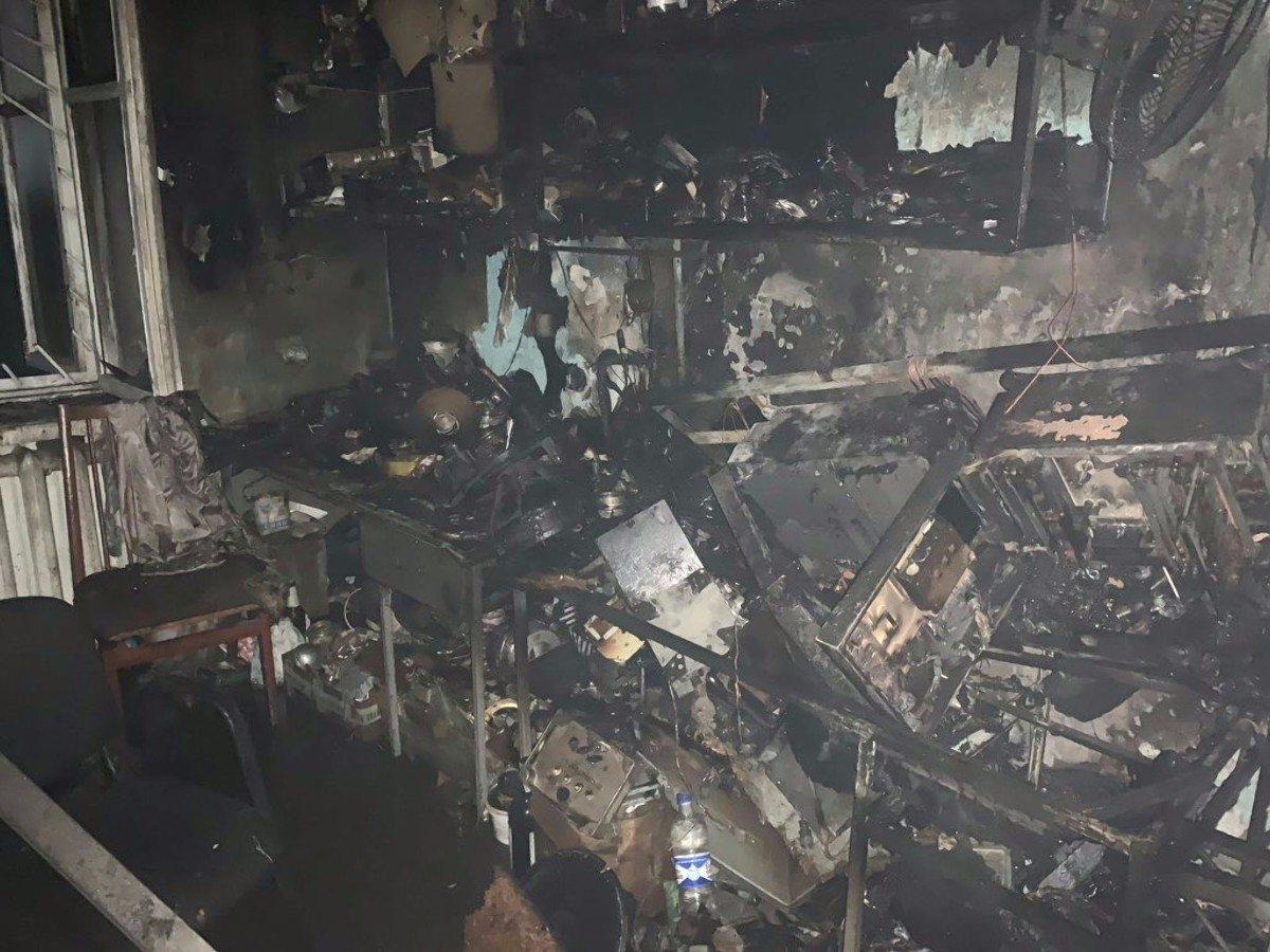 В Херсоне горел жилой дом