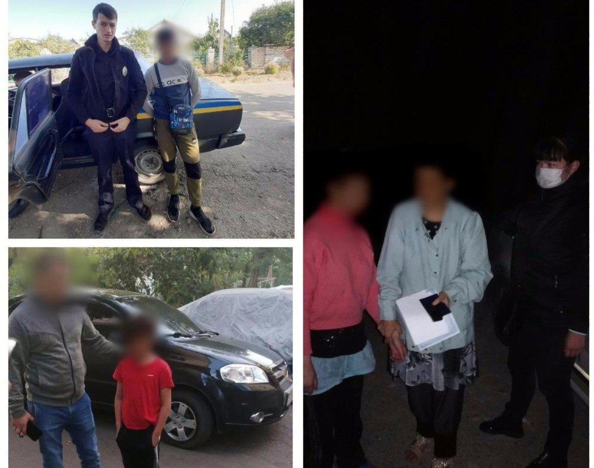 Херсонские полицейские за выходные разыскали четырёх пропавших детей