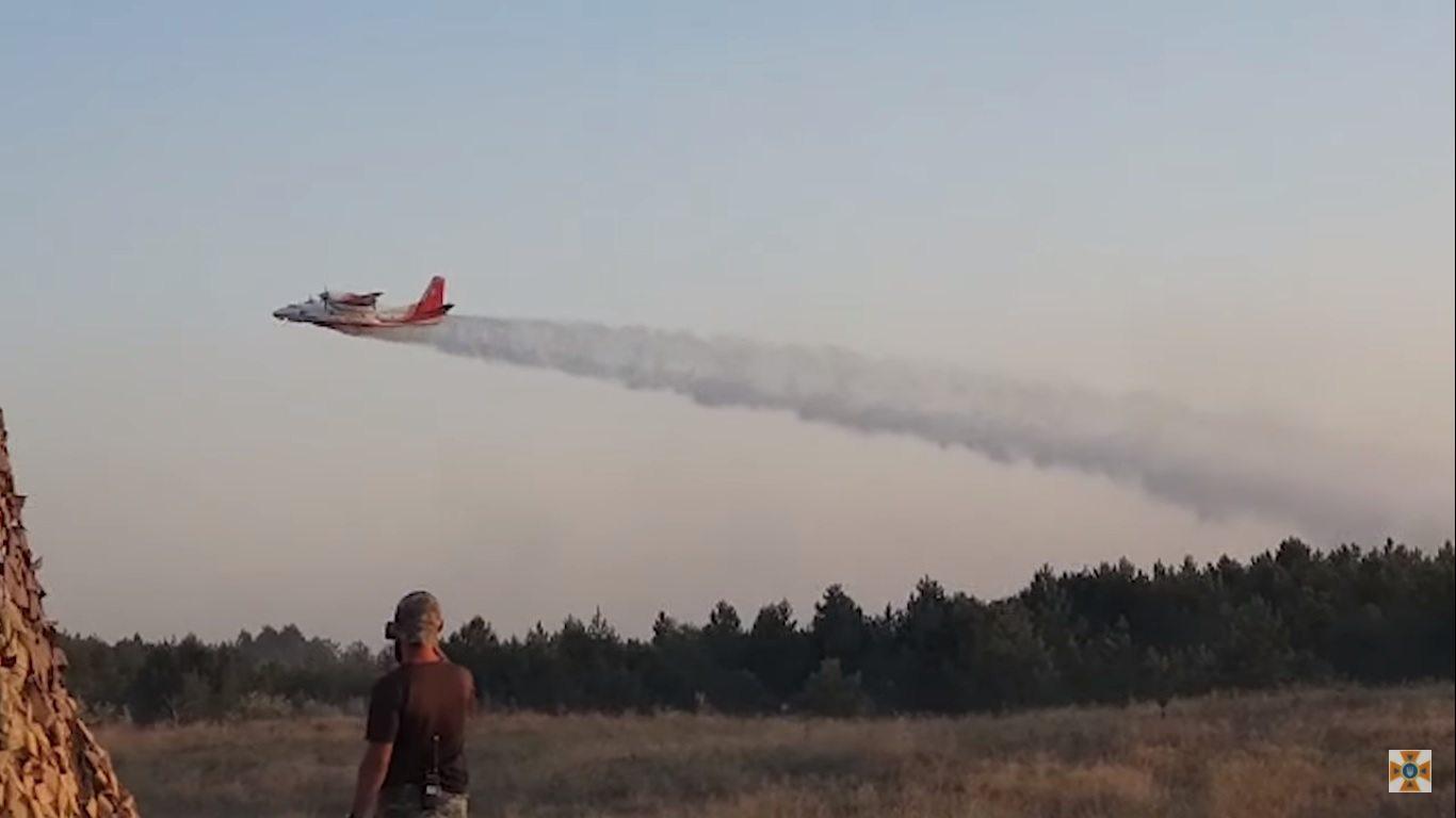 На Херсонщине спасатели и военные тушат лесной пожар (фото, видео)