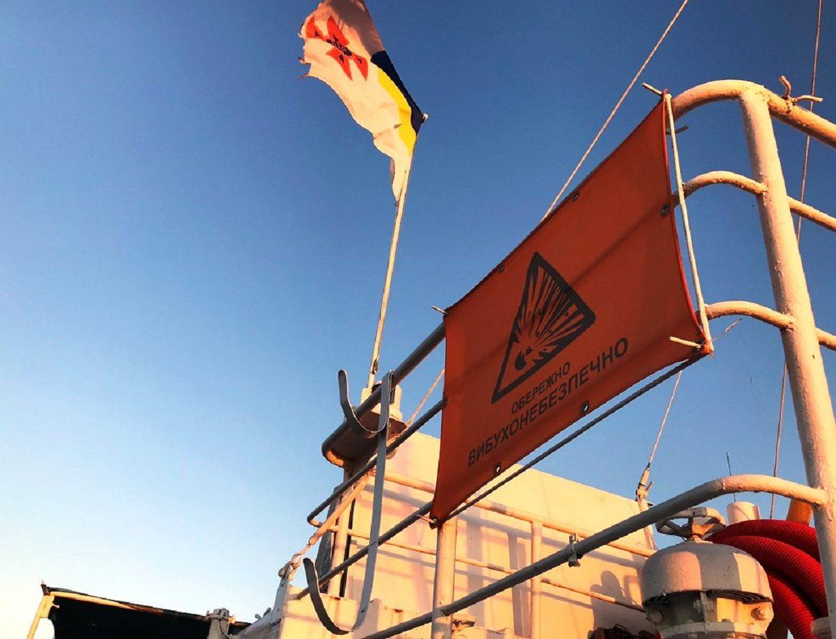 Завершилась экспедиция по разминированию затонувшего судна на Херсонщине
