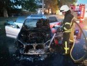 В Херсоне горел автомобиль
