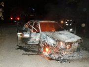 На Херсонщине автомобиль сгорел дотла