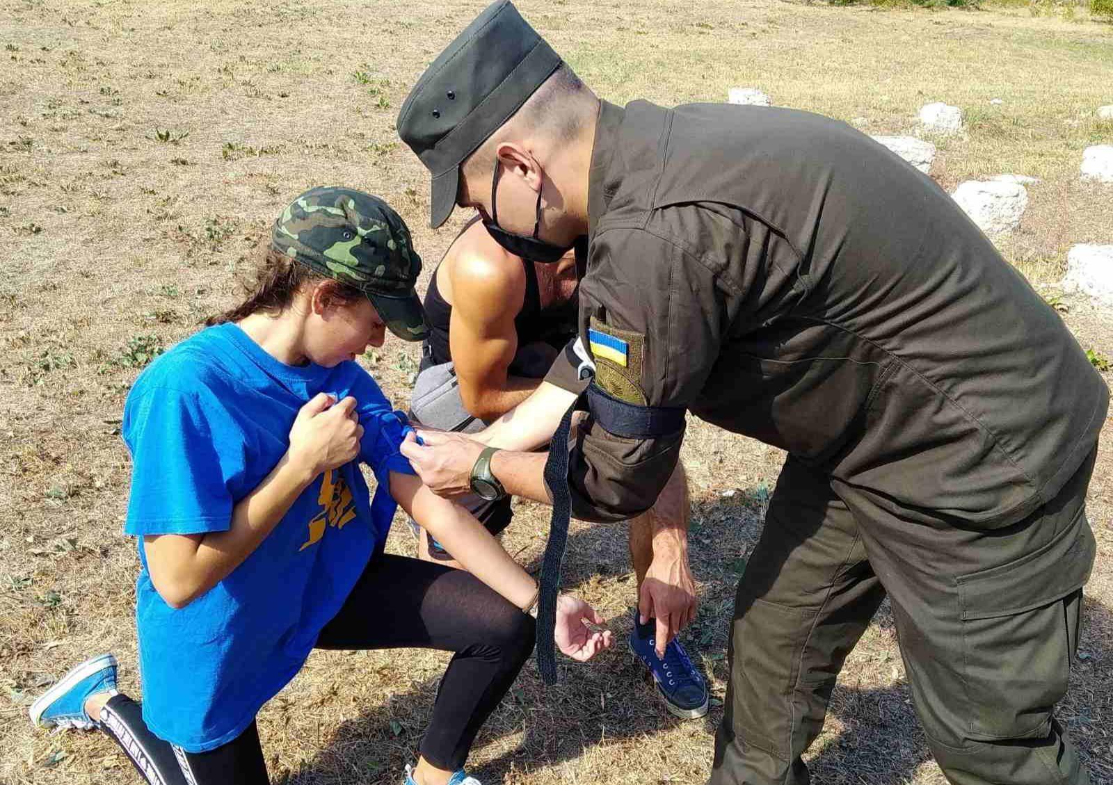 На Херсонщині пройшов військовий вишкіл для дітей (фото)
