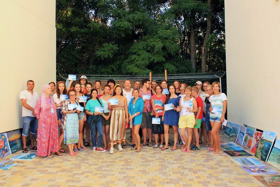 Молоді художники ХДУ взяли участь у Всеукраїнському пленері