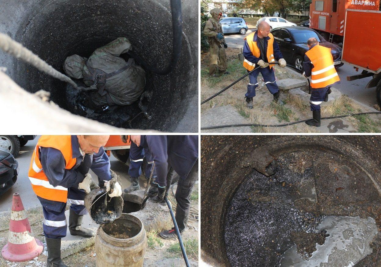 В Херсоні мешканці перетворюють каналізацію на смітник