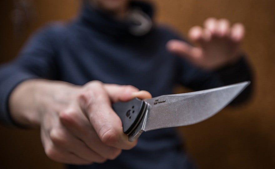 Каховка, сварка, ніж