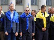 Представники влади Херсонщини привітали Нову Каховку з Днем міста