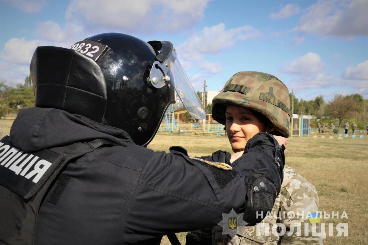 На Херсонщине дети побывали в роли полицейских