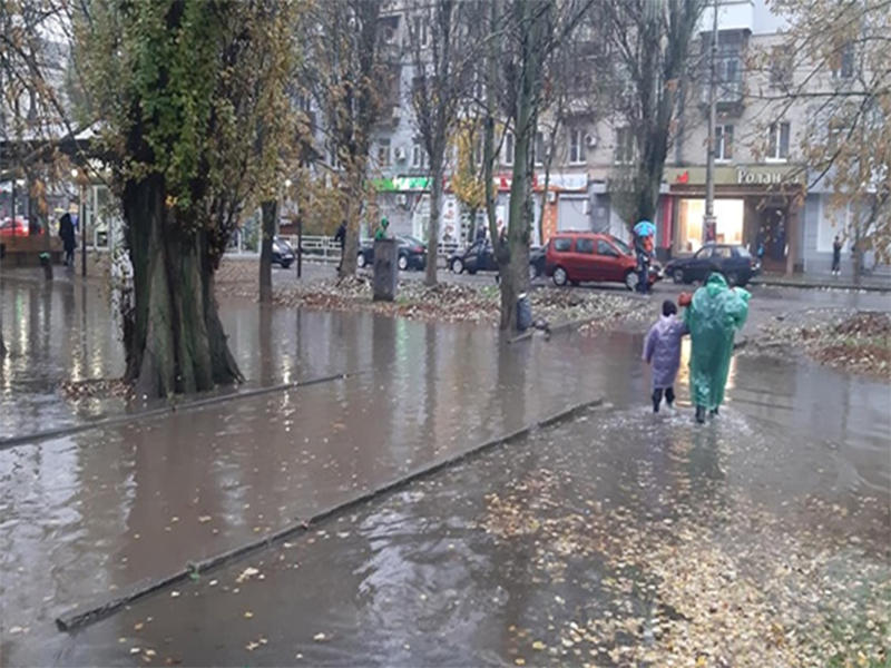 Для Херсона осенний дождь уже стихийное бедствие