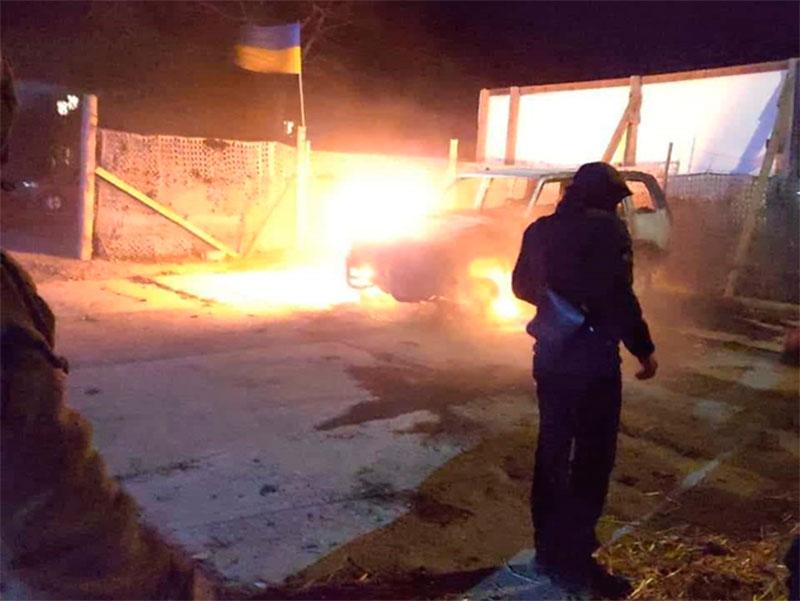 Странный поджог автомобиля на Херсонщине