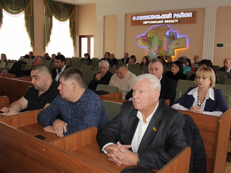 В Олешківській райраді відбулися урочистості з нагоди Дня місцевого самоврядування