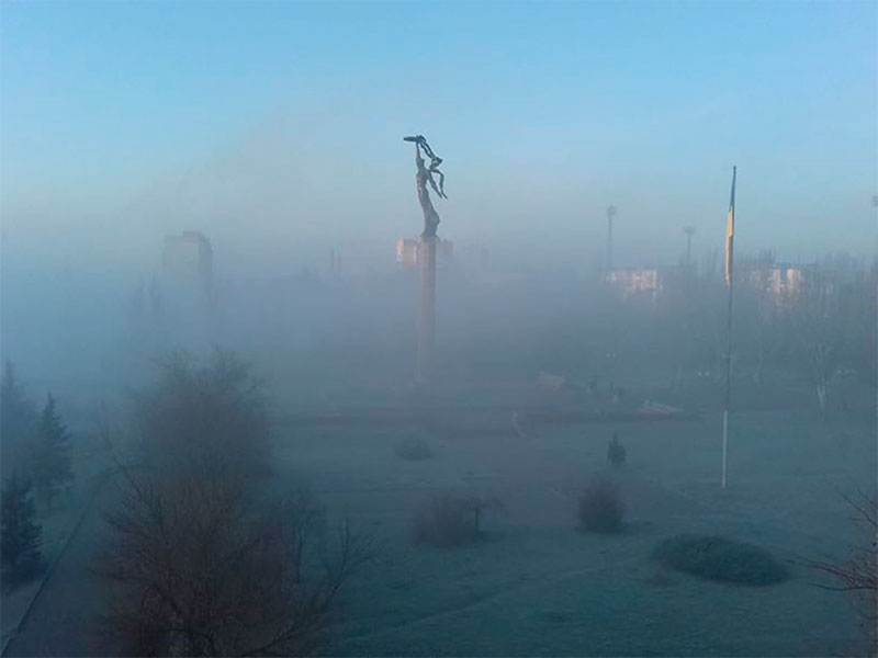 На Херсонщине туманно