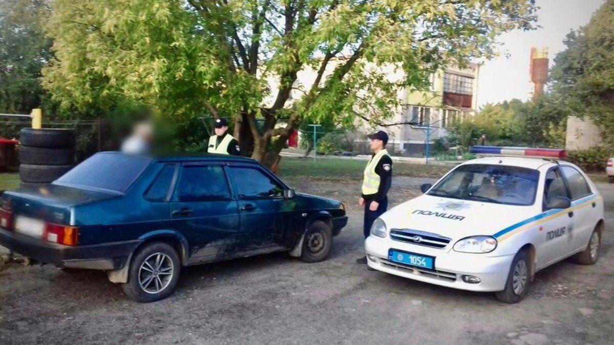 Полицейские Херсонщины помогли своим запорожским коллегам задержать угонщика автомобиля