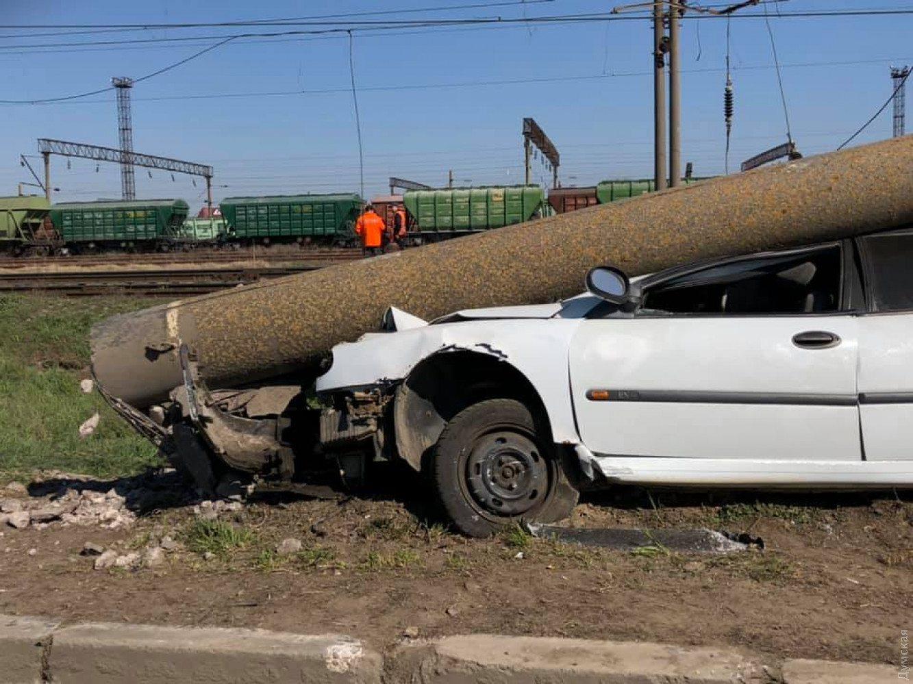 В Херсонській області в результаті ДТП пошкоджено 70 електроопор