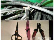 В Херсоне полицейские задержали похитителя телефонного кабеля