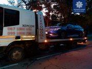 В центре Херсона патрульные задержали пьяного водителя без прав