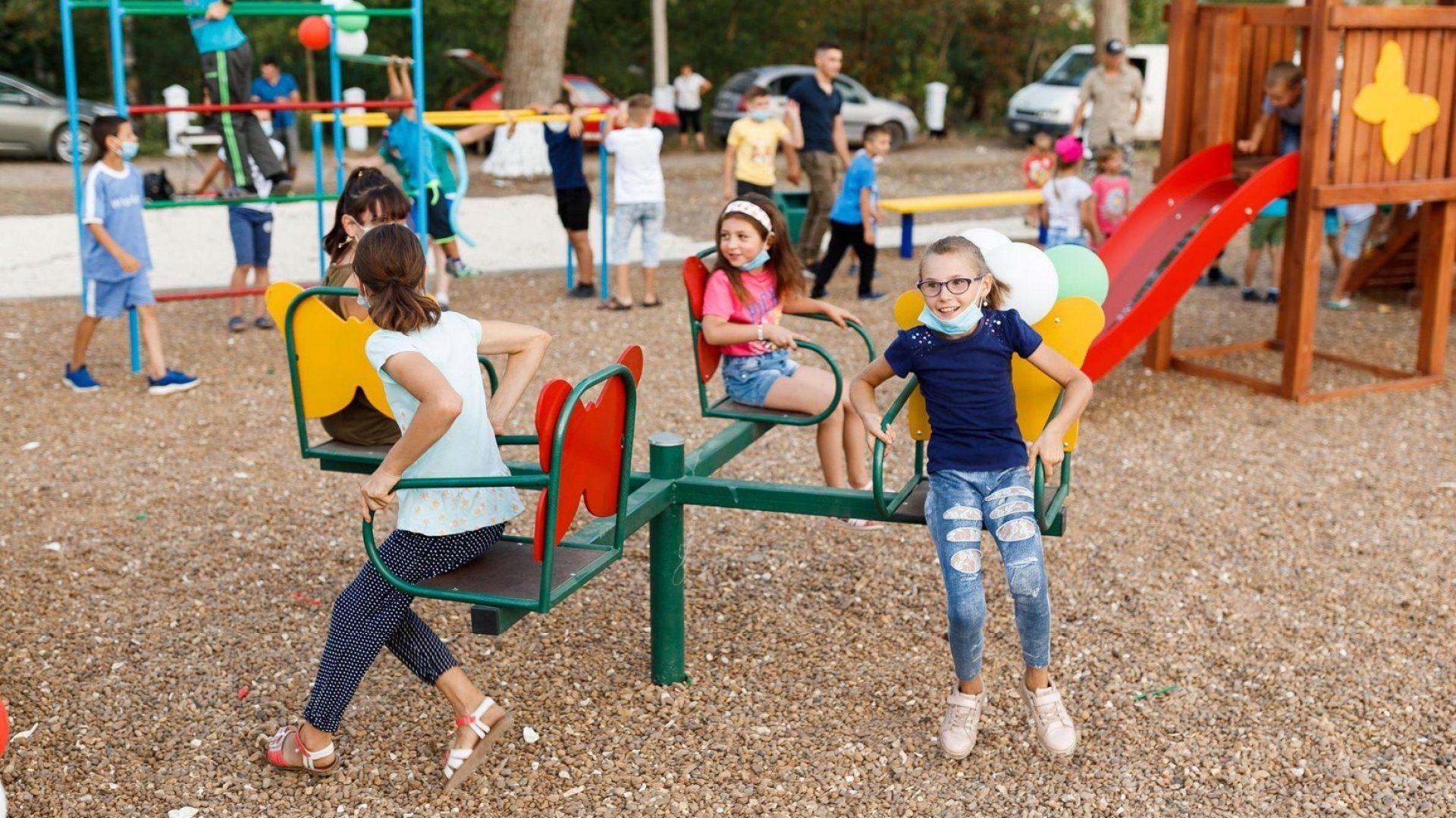 Авария над детской площадке под Херсоном