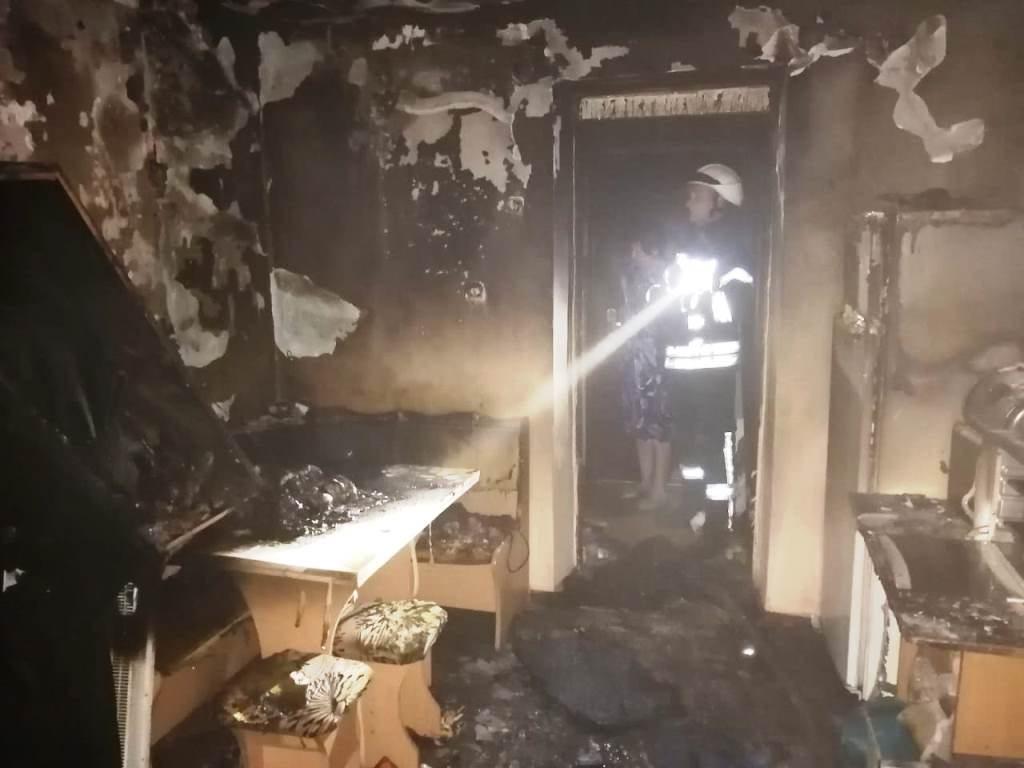 В Херсоне ночью во время отсутствия хозяев сгорела квартира