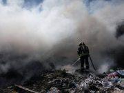 В Херсоне загорелась стихийная свалка мусора