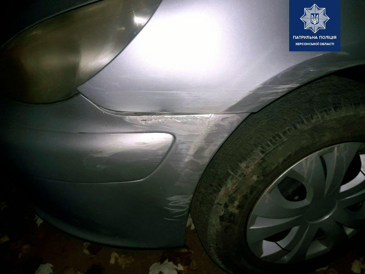 В Херсоне пьяный водитель-рекордсмен совершил ДТП и уехал с места происшествия