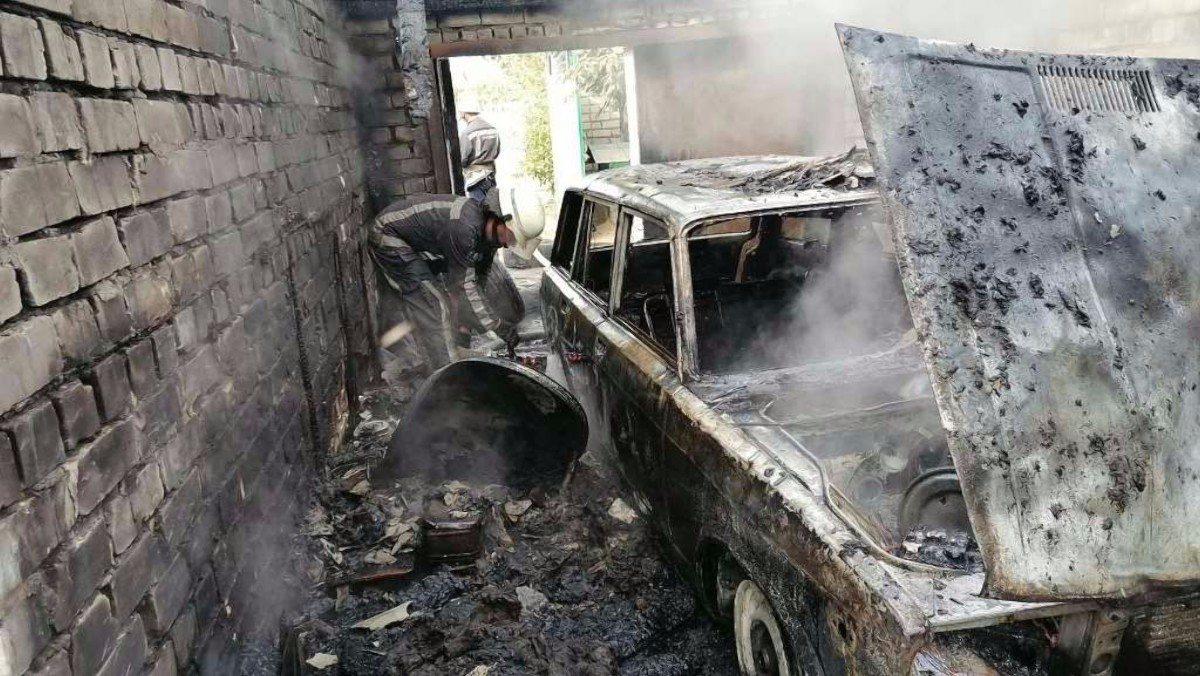 Херсон,Камышаны,пожар автомобиля