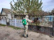 На Херсонщине проводят уличную  дезинфекцию