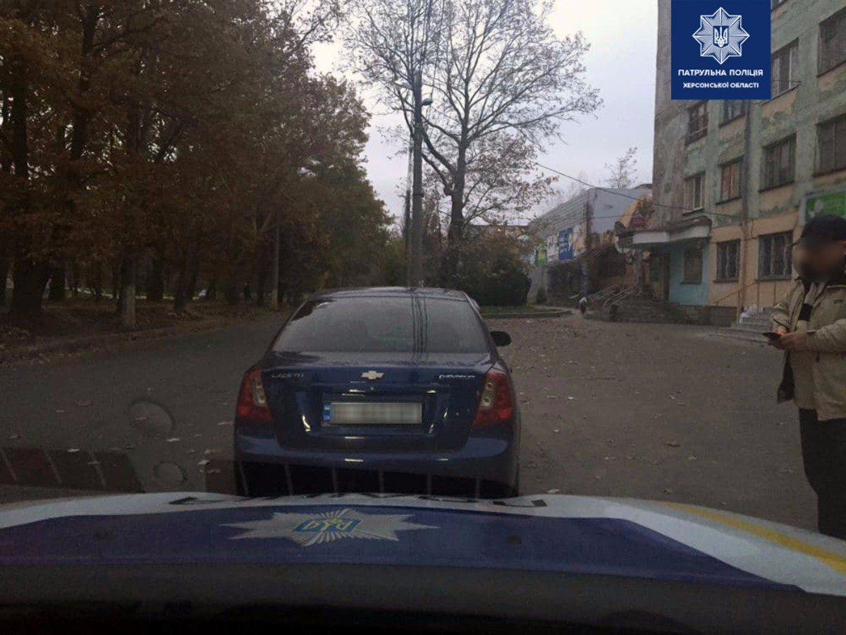 В Херсоне патрульные полицейские разыскали автомобиль, угнанный в Львовской области