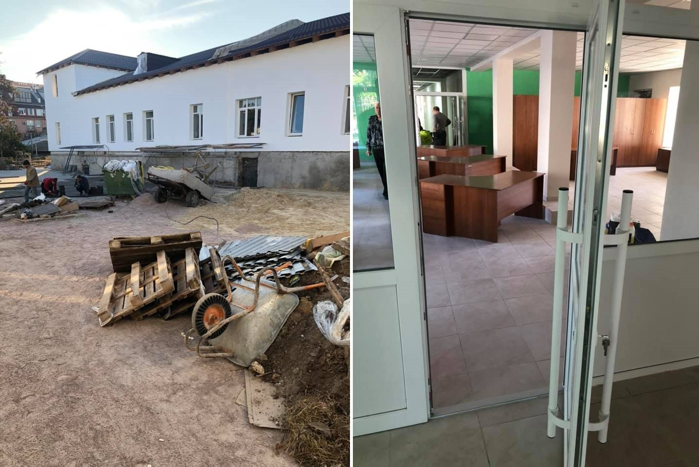 В Херсоне возмутились низким качеством ремонта нового Центра предоставления админуслуг