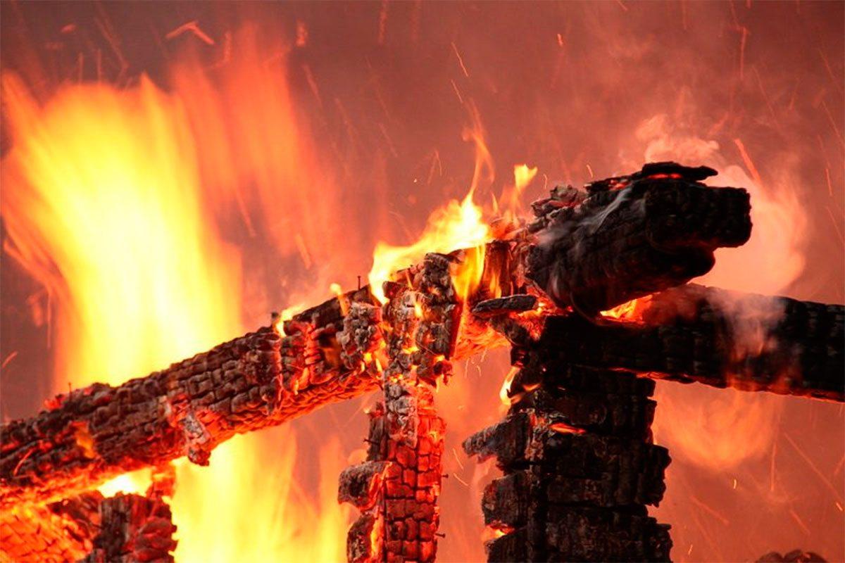 На Херсонщине хозяин дома обгорел при тушении пожара
