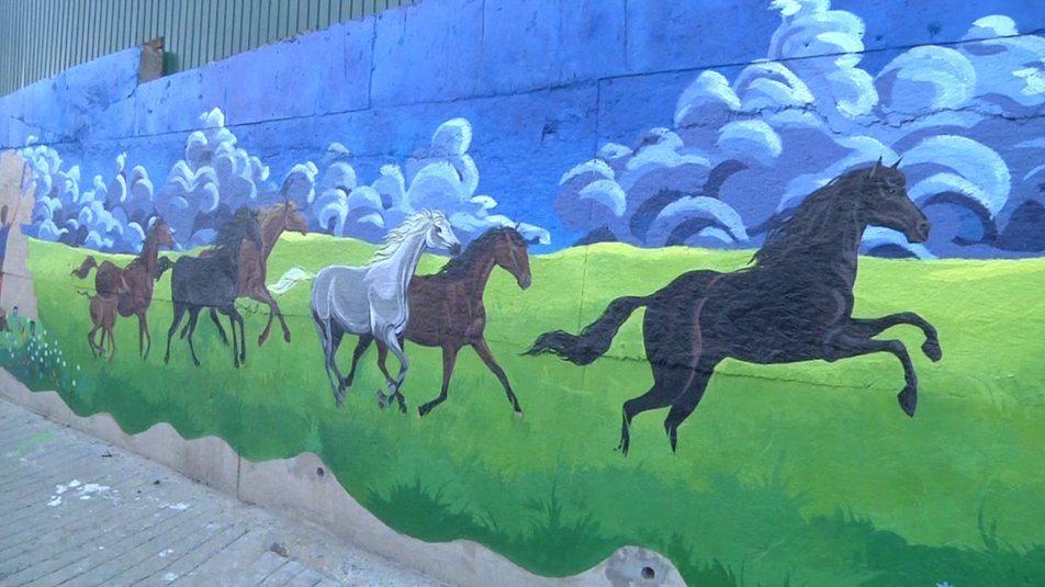 В Херсоне создали самую большую в Украине картину под открытым небом