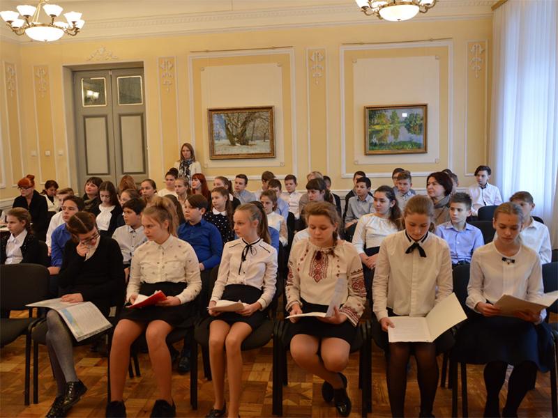 Учащиеся ШГТ провели конференцию в Херсонском художественном музее