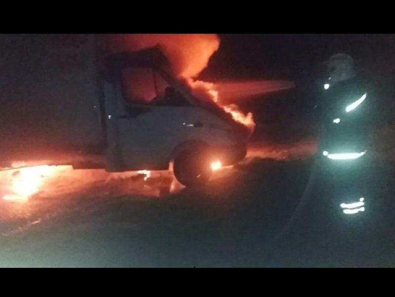 В Херсонской области сгорел грузовик