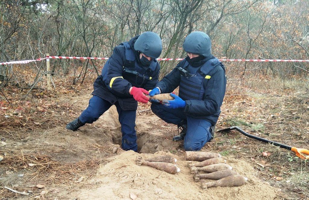 Херсонские пиротехники уничтожили 8 старых мин и снарядов