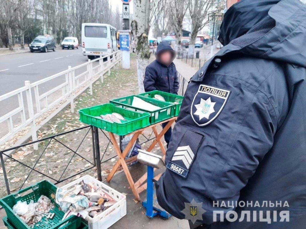В Херсоне водная полиция проверила продажу рыбы на рынках города
