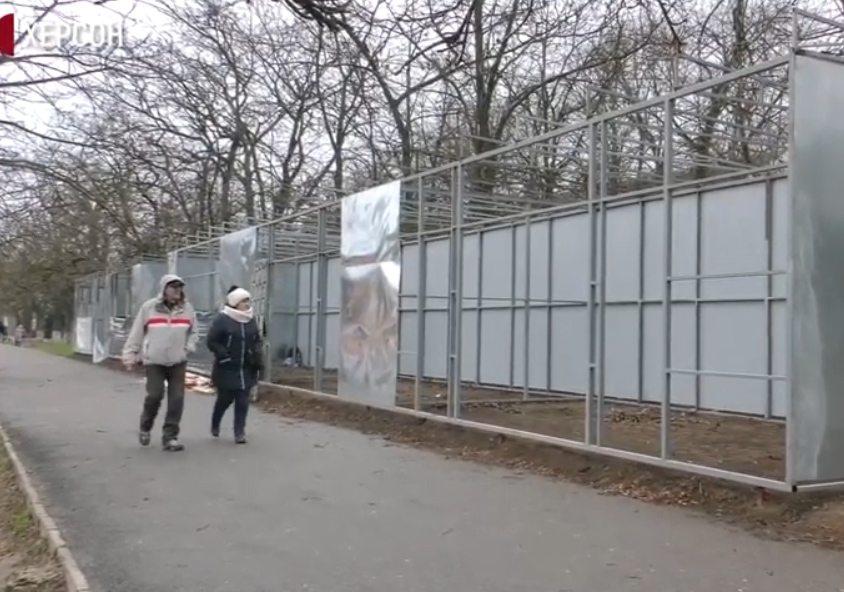 Ситуація з тимчасовими спорудами в Херсоні