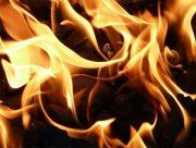 В Херсоне загорелся бродяга
