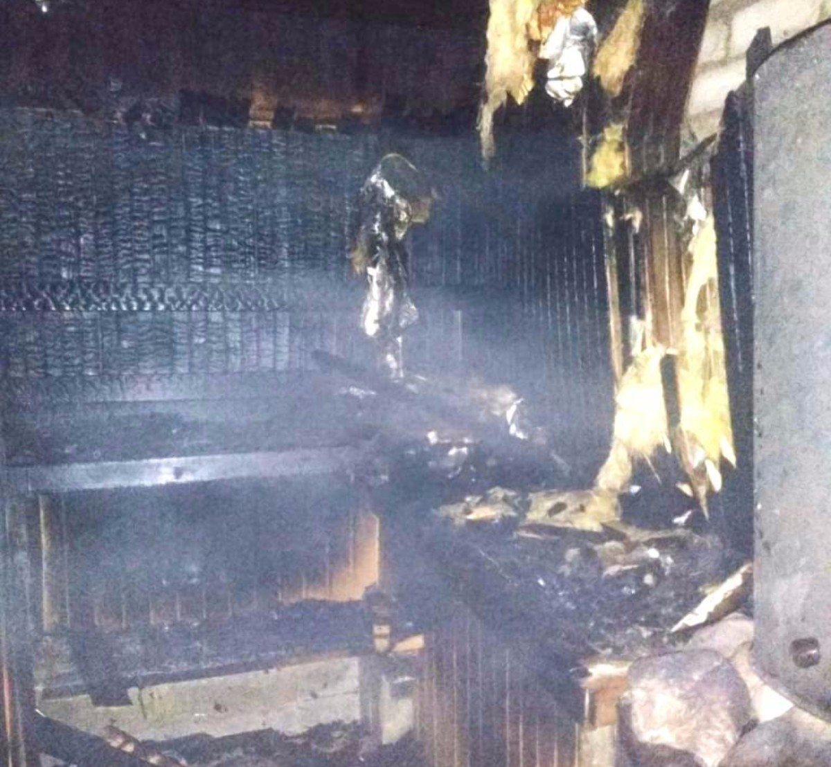 Под Херсоном при пожаре бани пострадал любитель попариться