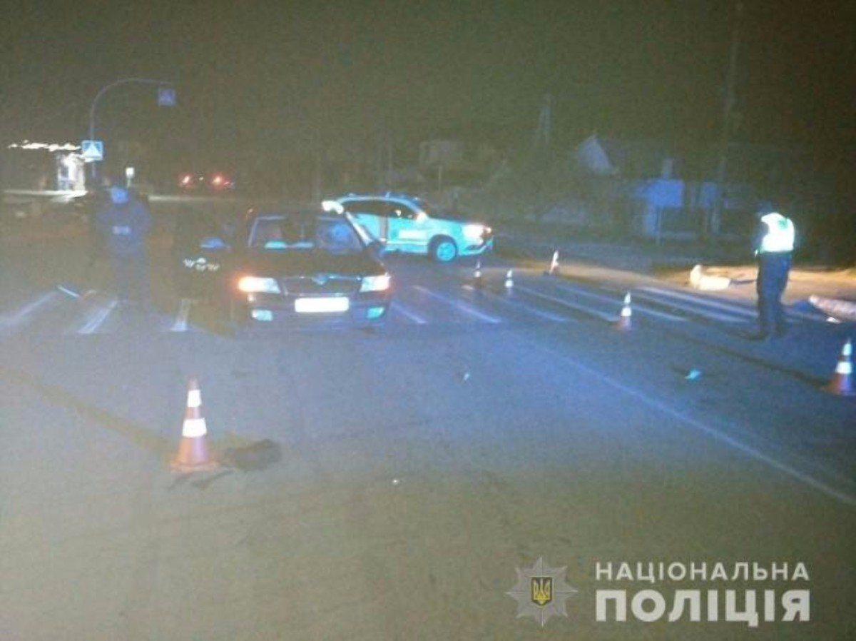 На Херсонщине водитель такси на своём авто насмерть сбил пешехода